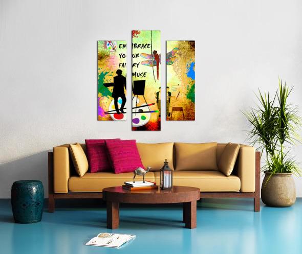 EMBRACE YOUR FAIRY MUSE -ART-For Painter Artist Canvas print