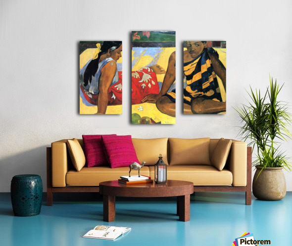 Two Women From Tahiti by Gauguin Canvas print