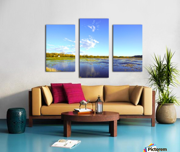 Beautiful Day at the Estuary Canvas print