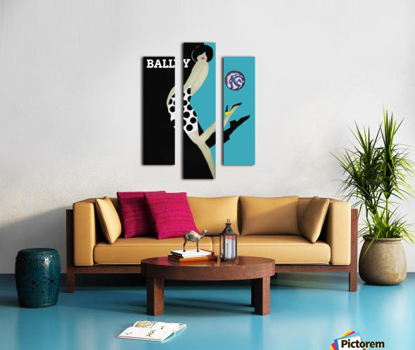 Vintage Bally Poster Giclee Print Aqua Blue Canvas print