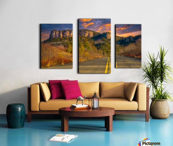 Route des Failles - La crevasse Canvas print