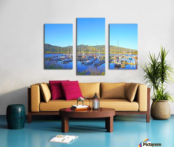 Perfect Day at Hood River Marina   Oregon Canvas print