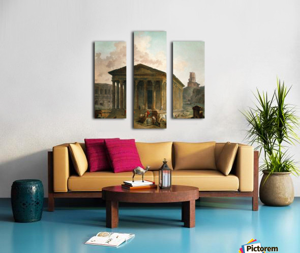 Antic ruins with figures Canvas print