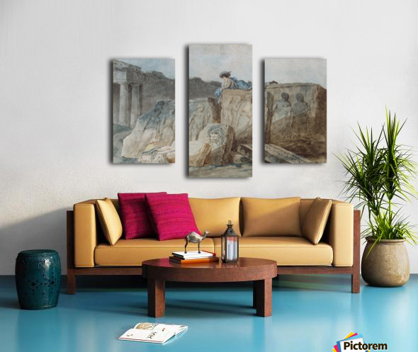 An Artist amongst the Ancient Ruins Canvas print