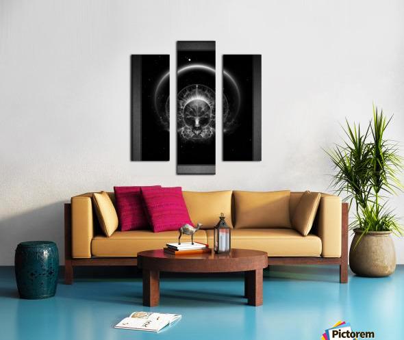 Gothic Skull Blaze Abstract Digital Art Composition Canvas print