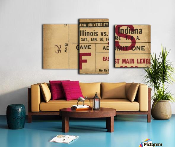 1981 Indiana vs. Illinois Basketball Ticket Art Canvas print