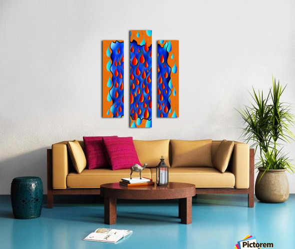 Greoforio V4 - abstract digital artwork Canvas print