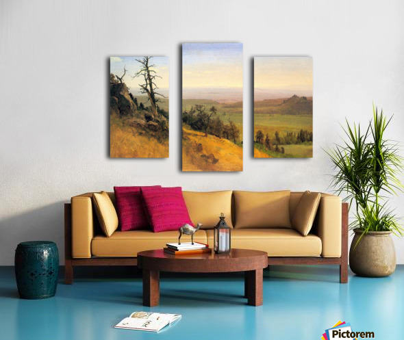 Wasatch Mountains Nebraska by Bierstadt Canvas print