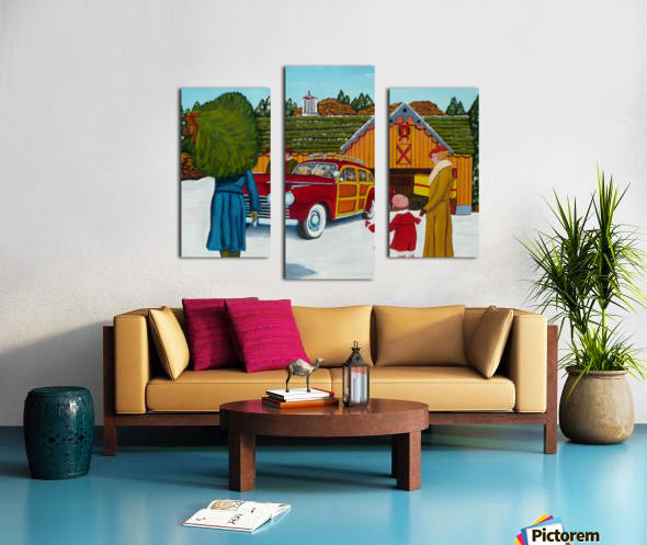 Buying The Tree Canvas print