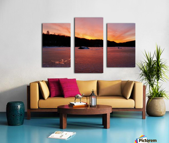 Scenic Fiery North Shore Sunset Canvas print