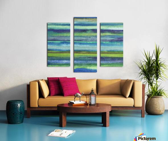 Ocean And Sea Beach Coastal Art Organic Watercolor Abstract Lines VI Canvas print