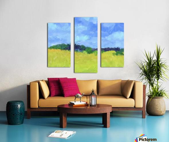 Parkton Landscape in Spring Green Canvas print