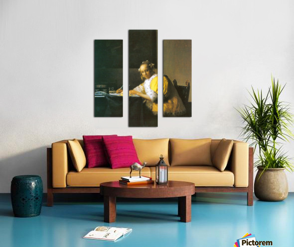 Woman in yellow by Vermeer Canvas print