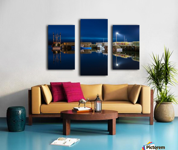 Night Time at the Wharf Canvas print
