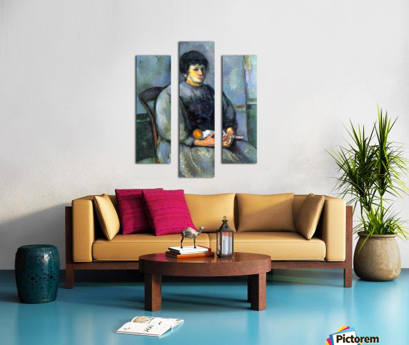 Woman with Doll by Cezanne Canvas print