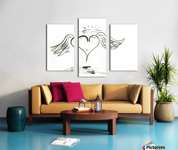 2020 heart angel Canvas print