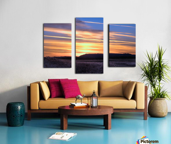 Table Top Mountain Sunset Canvas print