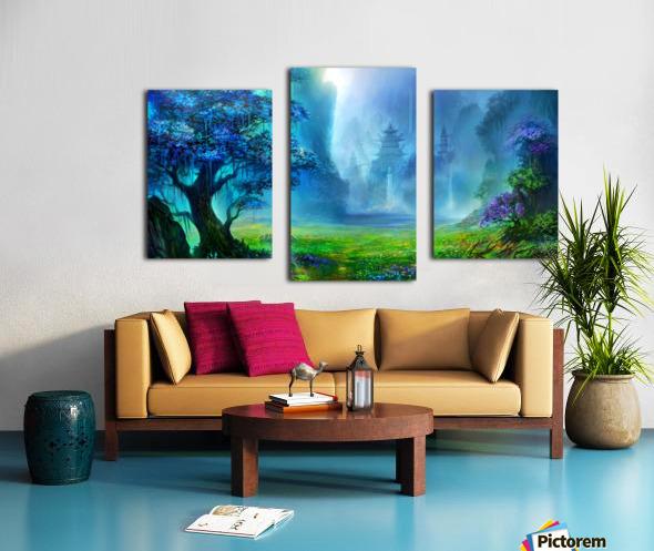 Blue Ravine Canvas print