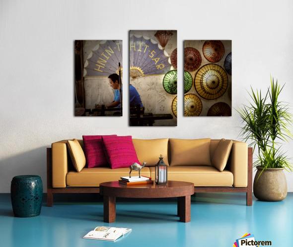 Umbrella maker Canvas print