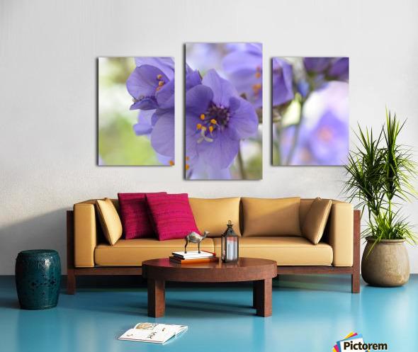 Blue Floral Photograph Canvas print
