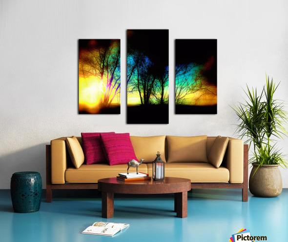 Evening tree Canvas print