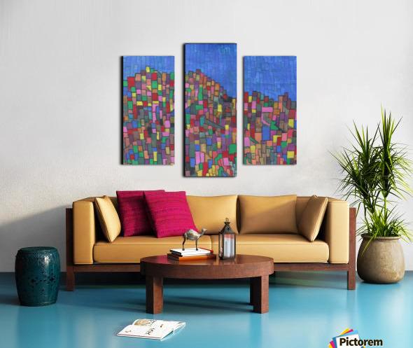 colorfulbuildings Canvas print