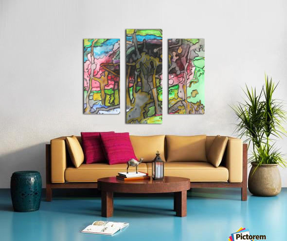 Abstractforest Canvas print