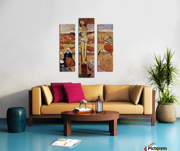 Yellow Christ by Gauguin Canvas print