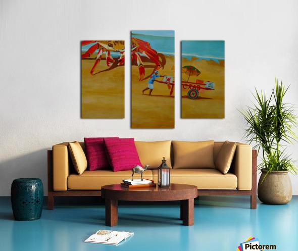 Crab Food Vendor Canvas print