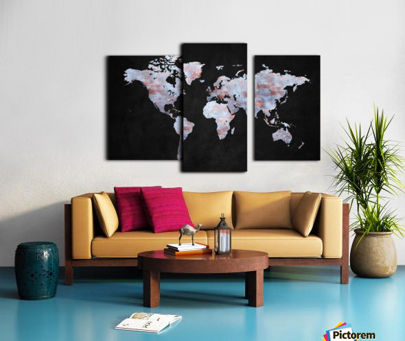 Artistic World Map XII Canvas print