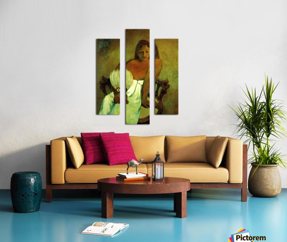 Young Girl with Fan by Gauguin Canvas print