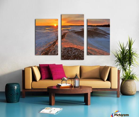 Icy Sunset  Naubinway Michigan Canvas print