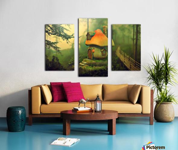 Mushroom Cottage Canvas print