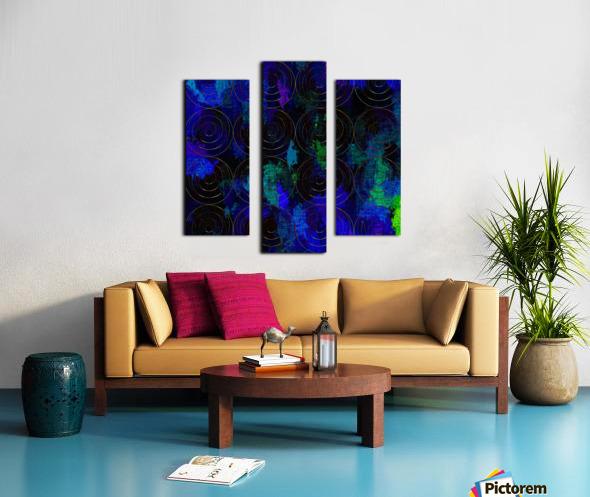 Blue Splash Wings Canvas print