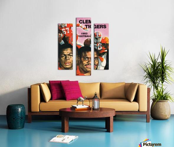 1983 Clemson Tigers Football Poster Canvas print