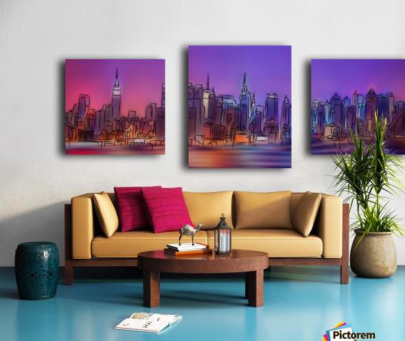 Yorkirius - Abstract skyline Canvas print
