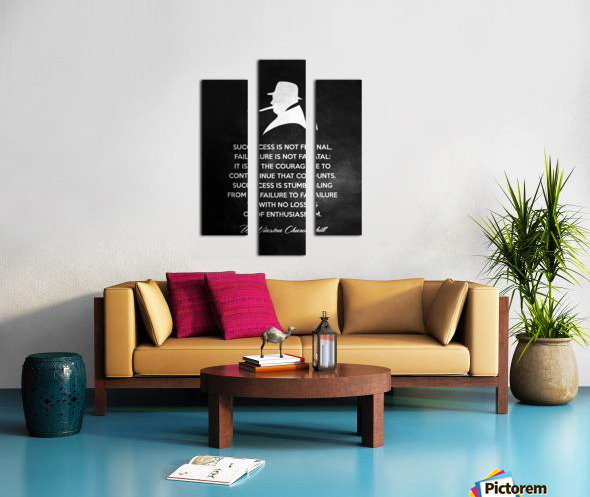 Winston Churchill Motivational Wall Art Canvas print