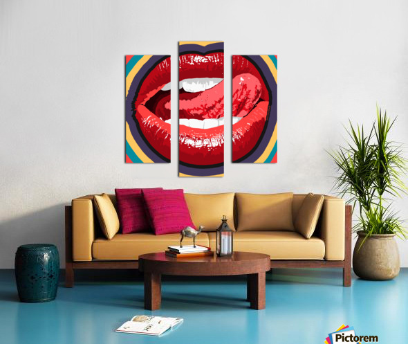 Lip Service Canvas print