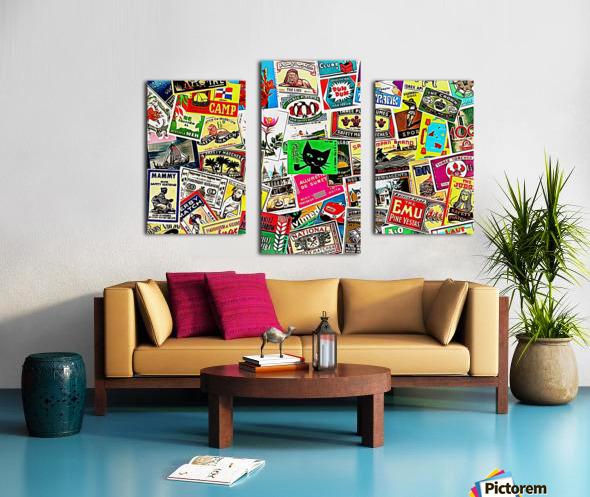 Matchbox Label Collage Canvas print
