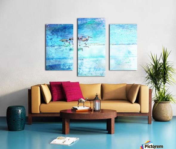 Three Whimbrels Canvas print