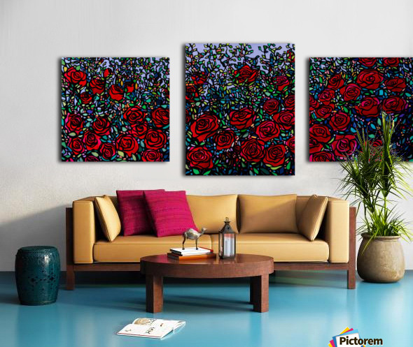 Garden of Roses Canvas print