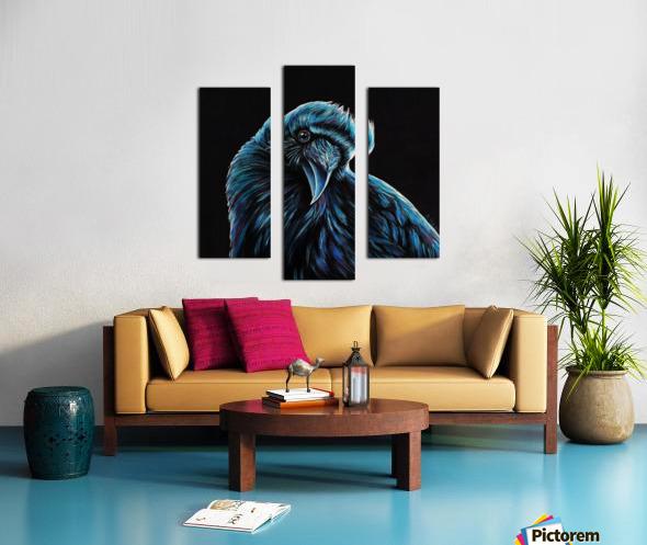 Curious Raven Canvas print