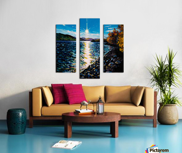 Moberly Lake Canvas print