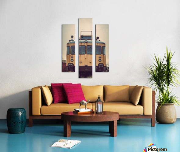 Junkyard train Canvas print