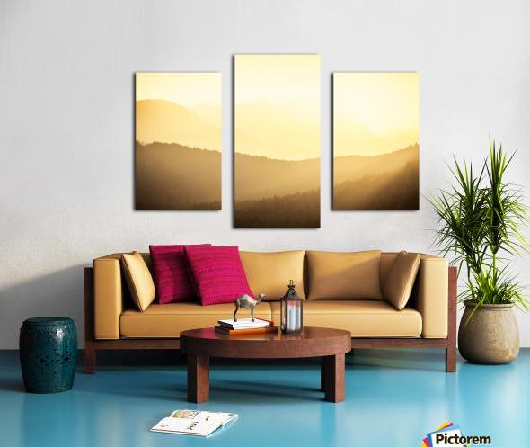 Mountain sunrise Canvas print