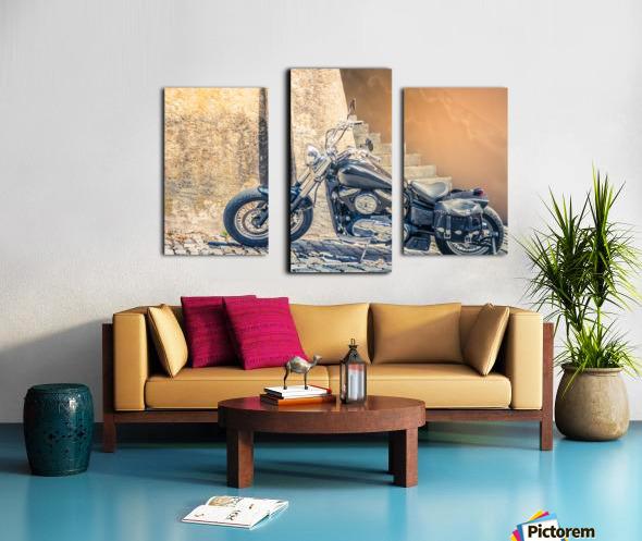Chopper cruiser motorbike Canvas print