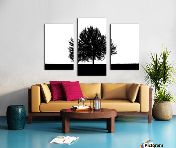 Silhouette of a lonely tree Canvas print