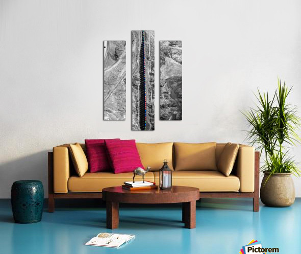 Train with Colorful Boxcars and Shadows Canvas print