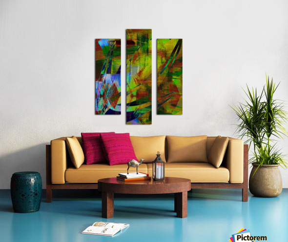 ABSTRACT-1007 SPATIAL Canvas print
