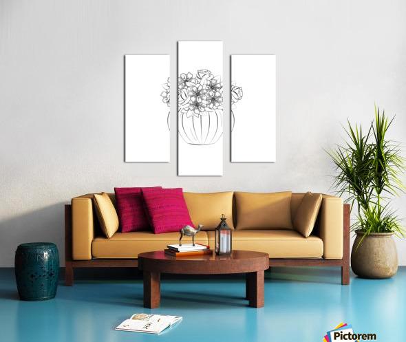 Flower bouquet  Canvas print